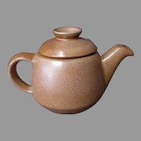 Vintage Frankoma Pottery - 6J Westwind Covered Teapot – Brown Glaze
