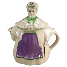 Vintage Shawnee Pottery Teapot - Granny Ann, Lavender & Green - 1940's