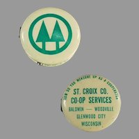 Vintage Celluloid Tape Measure - St. Croix Co-Op Services Advertising