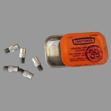 Vintage Craftsman Replacement Lighter Flints Tin