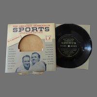 Vintage 33 1/3 Record - Calvalcade of Sports – Dempsey, Rockne, Gehrig & More