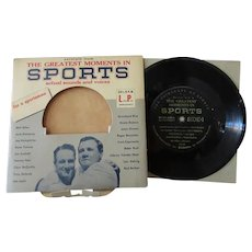 Vintage 33 1/3 Record - Calvalcade of Sports – Dempsey, Rockne, Gehrig & More