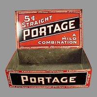 Vintage Tobacco Tin - Portage Cigars Counter Display Tin