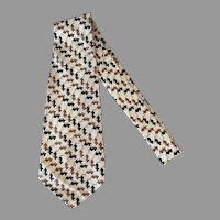 Men's Hand Made Vintage Necktie – Wide Tie with Lots of Little Mice