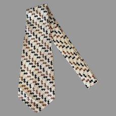 Men's Hand Made Vintage Necktie – Wide Tie with Lots of Little Mice