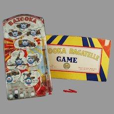 Vintage Marx Toy - Bazooka Bagatelle Military Marble Game with Original Box