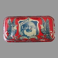 Antique Yankee Razor Blade Tin – Small Advertising Tin with Great Graphics
