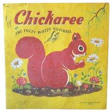 Children's 1948 Vintage Fuzzy Wuzzy Book – Chickaree Squirrel