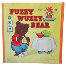 Children's 1947 Vintage Fuzzy Wuzzy Bear Book