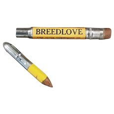 Vintage Bullet Pencil - Breedlove Live Stock Commission - Fort Worth Texas Advertising