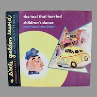 Child's Vintage 78 Little Golden Record, The Taxi That Hurried and Children's Dance