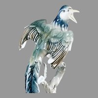 Beautiful Vintage Exotic Bird Figurine - Bochmann, West Germany 1938-1956