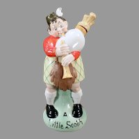Large Vintage Schafer and Vater Decanter - A Little Scotch Bagpipe Player