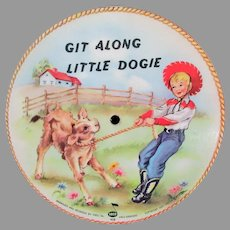 Child's Vintage 1949 Voco Picture Record – Git Along Little Dogie & Bronco Buster