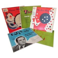 Five Vintage 33 1/3 Records with Original Sleeves - Circa 1950's