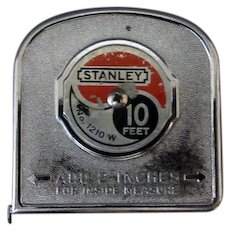 Vintage Stanley Tape Measure - No. 1210W - 10 Foot Steel