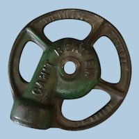 Vintage Cast Iron Can't Beat Em Garden Sprinkler Nozzle – Original Green Paint
