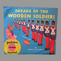 Vintage Child's 78 Golden Record – Wooden Soldiers Parade & Sparrow in the Treetop