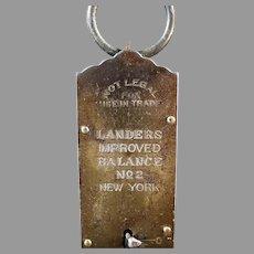 Vintage Landers No.2 Improved Balance Hanging - 50 Pound Measure Spring Scale