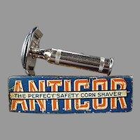 Vintage Anticor Corn Razor with Original Tin - 1911 German Corn Shaver
