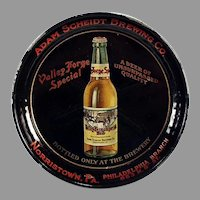 Vintage Beer Advertising Tip Tray - Adam Scheidt Brewing Co. Valley Forge Beer