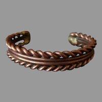 Vintage Twisted Copper Wire Design Bracelet - ca 1950's