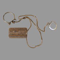 Vintage 1936 Commemorative Watch Chain, Fob - Voiture 102 Forty/Eight - La Madelon