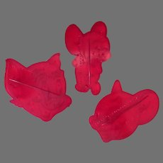 3 Vintage Cookie Cutters – Tom and Jerry Cat & Mouse - 1956