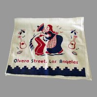 Vintage Olvera Street Los Angeles Souvenir Dish Towel – Fun Southwest Kitchen Decoration