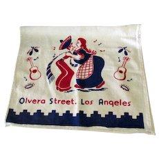 Vintage Olvera Street Los Angeles Souvenir Dish Towel – Fun Southwest Kitchen Decoration