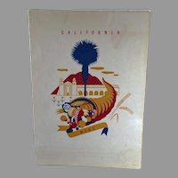 Vintage 1940 S.S. President Harrison American President Lines Menu - California Graphics