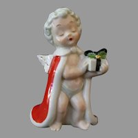 Vintage Porcelain Christmas Cherub Angel – 1950's Jewelry Industry Council Store Display
