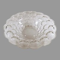 Vintage Heisey Provencial #1506 Pattern, Clear Console Bowl ca 1960