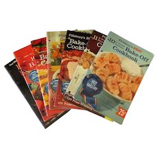 Seven (7) Vintage Pillsbury Grand National Bake-Off Recipe Booklets – 10th thru 16th 1958-1964