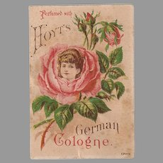 Vintage Advertising Trade Card - Hoyt's Perfume with Pretty Floral Image