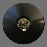 Vintage Pathe Freres Phonograph Record – The Dancing Deacon / Clarinet Marmalade