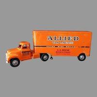 Vintage Tonka Allied Van Lines Semi-Truck - Very Nice 1957 Original Condition