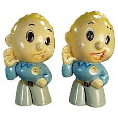 Vintage Lennie Lennox Advertising Salt and Pepper Set ca. 1950