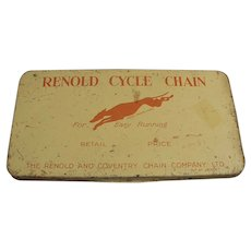 Vintage Renold and Coventry Cycle Chain Tin - Bicycle or Motorcycle Chain Tin