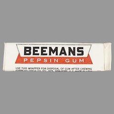 Stick of Vintage Beemans Pepsin Chewing Gum - Unused Never Opened