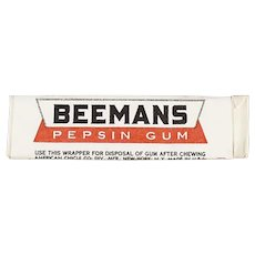 Stick of Vintage Beemans Pepsin Chewing Gum - Unused Never Opened