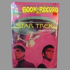 Old Star Trek Book & Record Set - 1979 45rpm Peter Pan Record - Trekkie Fun