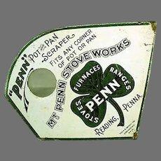 Vintage Mt. Penn Lithographed Advertising Pot & Pan Scraper