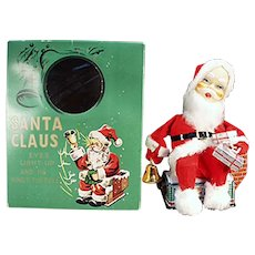 Vintage Battery Operated Santa Claus Toy with Fun Original Box