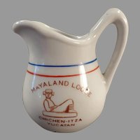 Vintage Restaurant/Hotel China - Mayaland Lodge Yucatan Cream Pitcher