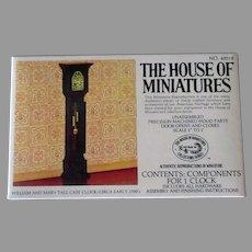 Vintage Miniature Doll Furniture – #40018 William & Mary Tall Case Clock Unassembled Kit