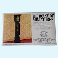 Vintage Miniature Doll Furniture – #40018 William & Mary Tall Case Clock Unassembled Kit