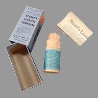 Vintage Stuart's Laxative Medicine Box - Original Wood Container and Box