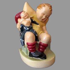 Vintage 1942 Sleepy Child Herbert Dubler B. Hummel Chalkware Figure