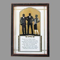 Vintage Motto Print for Dad with Poem and Silhouette - Great Gift for Father